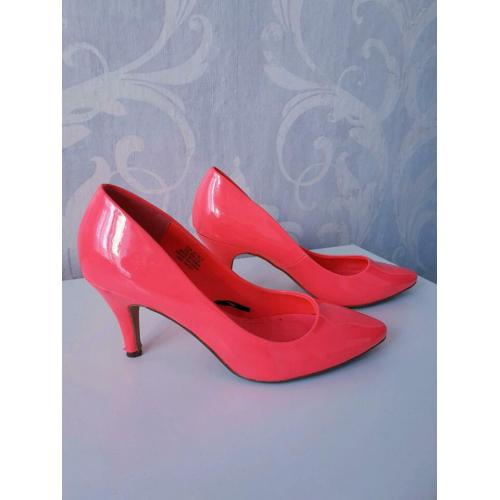 H&M Pumps High Heels Neon Pink Gr.37
